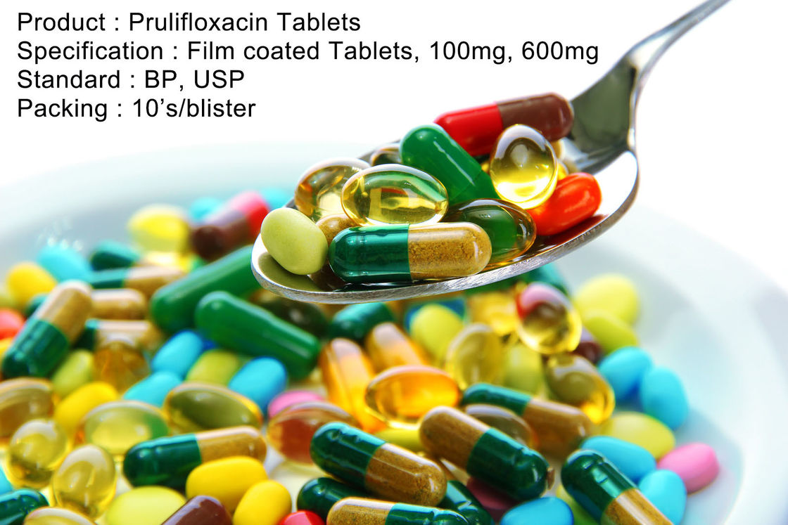Prulifloxacin Tablets Film coated Tablets, 100mg, 600mg Oral Medications Antibiotics