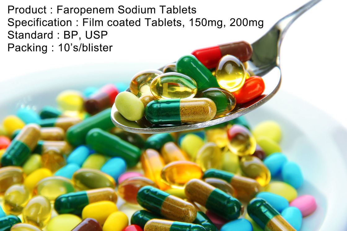 Faropenem Sodium Tablets Film coated Tablets, 150mg, 200mg Oral Medications Antibiotics